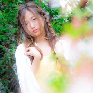 簡単ヘアアレンジ ストリート 愛され ヘアアレンジ ヘアスタイルや髪型の写真・画像