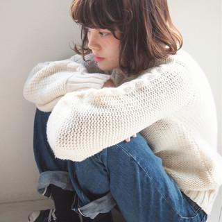冬 外国人風 ボブ パーマ ヘアスタイルや髪型の写真・画像