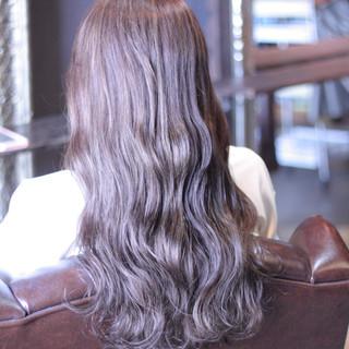 大人かわいい アッシュ ストリート 外国人風 ヘアスタイルや髪型の写真・画像