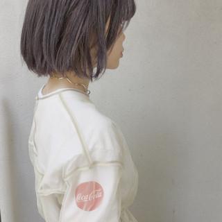 外国人風 ハイライト イルミナカラー ボブ ヘアスタイルや髪型の写真・画像
