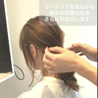 ナチュラル ヘアアレンジ 簡単ヘアアレンジ ミディアム ヘアスタイルや髪型の写真・画像