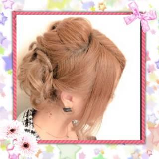 ツイスト 編み込み アップスタイル コンサバ ヘアスタイルや髪型の写真・画像