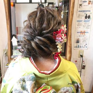 シニヨン ナチュラル ヘアアレンジ 成人式 ヘアスタイルや髪型の写真・画像