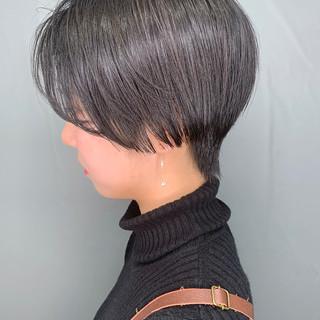 簡単スタイリング 艶髪 ベリーショート 大人かわいい ヘアスタイルや髪型の写真・画像