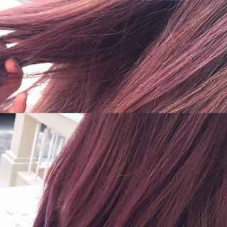 ハイライト ダブルカラー 透明感 ピンクアッシュ ヘアスタイルや髪型の写真・画像