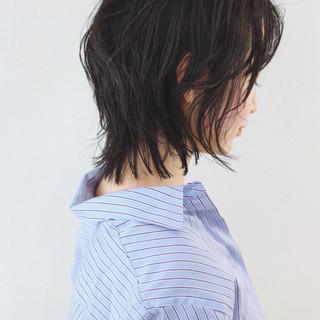 ウルフパーマ ニュアンスウルフ マッシュウルフ ミディアム ヘアスタイルや髪型の写真・画像