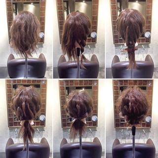 ギブソンタック ヘアアレンジ 簡単ヘアアレンジ ミディアム ヘアスタイルや髪型の写真・画像
