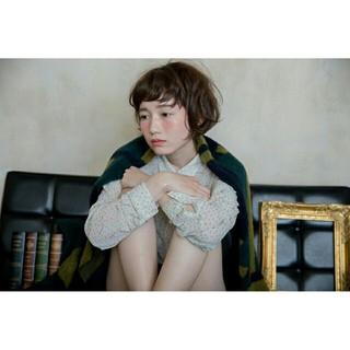 色気 外国人風 ナチュラル ボブ ヘアスタイルや髪型の写真・画像