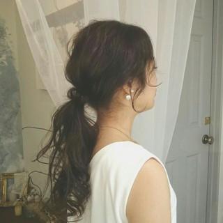 ロング ナチュラル フェミニン 夏 ヘアスタイルや髪型の写真・画像 ヘアスタイルや髪型の写真・画像
