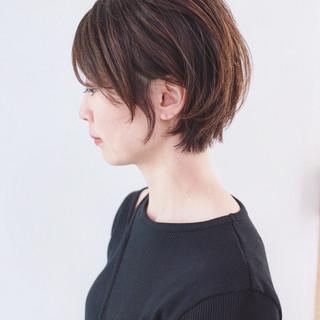 マッシュウルフ マッシュ マッシュショート ナチュラル ヘアスタイルや髪型の写真・画像