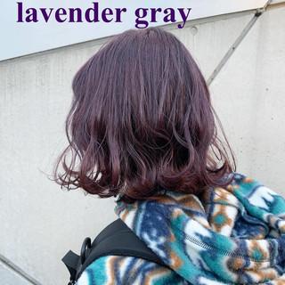 ラベンダーアッシュ ラベンダーグレージュ ストリート ラベンダー ヘアスタイルや髪型の写真・画像 ヘアスタイルや髪型の写真・画像