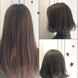 ハイライト フェミニン 色気 アッシュ ヘアスタイルや髪型の写真・画像