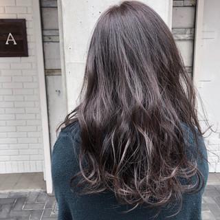 ロング ヘアアレンジ ヘアカラー ナチュラル ヘアスタイルや髪型の写真・画像