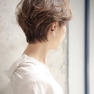 パーマ マッシュ ナチュラル 大人女子 ヘアスタイルや髪型の写真・画像