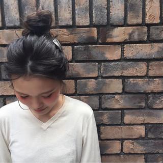 外国人風 ショート ブラウン セミロング ヘアスタイルや髪型の写真・画像