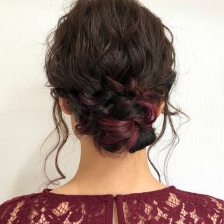 セミロング エレガント ヘアスタイルや髪型の写真・画像