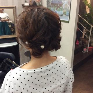 ヘアアレンジ デート ミディアム 簡単ヘアアレンジ ヘアスタイルや髪型の写真・画像