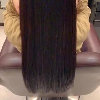 髪質改善トリートメント ロング ツヤ髪 トリートメント ヘアスタイルや髪型の写真・画像