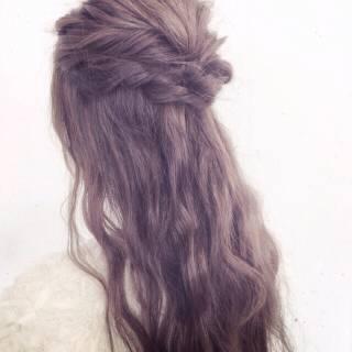 結婚式 モテ髪 ゆるふわ 大人かわいい ヘアスタイルや髪型の写真・画像