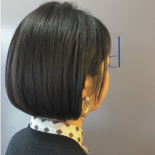ボブ ナチュラル 黒髪 ショートボブ ヘアスタイルや髪型の写真・画像