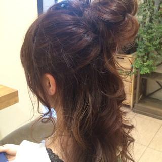 ヘアアレンジ 簡単ヘアアレンジ 大人かわいい ゆるふわ ヘアスタイルや髪型の写真・画像 ヘアスタイルや髪型の写真・画像