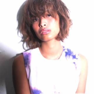 ガーリー ミディアム 外国人風 ヘアアレンジ ヘアスタイルや髪型の写真・画像