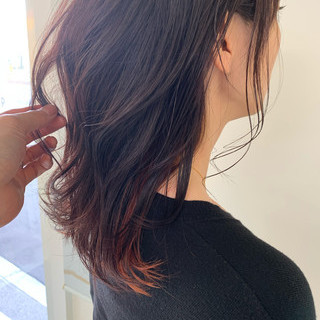 巻き髪 ナチュラル ヘアカラー インナーカラー ヘアスタイルや髪型の写真・画像