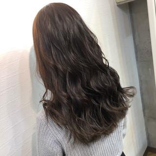 地毛風カラー 暗髪 冬カラー オフィス ヘアスタイルや髪型の写真・画像