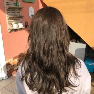 ハイライト セミロング バレイヤージュ 外国人風カラー ヘアスタイルや髪型の写真・画像