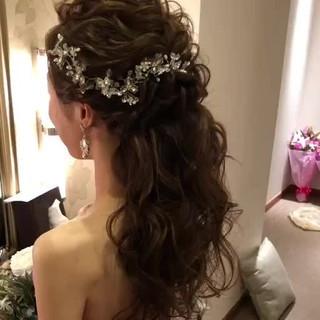 結婚式ヘアアレンジ 結婚式髪型 大人かわいい ヘアアレンジ ヘアスタイルや髪型の写真・画像