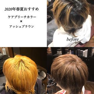 ショートヘア グレージュ ナチュラル ショート ヘアスタイルや髪型の写真・画像