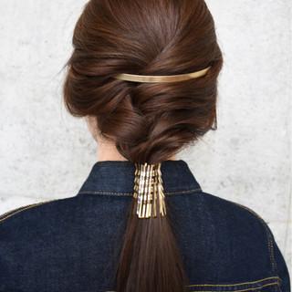 ヘアピン ヘアアクセ ヘアアレンジ ハーフアップ ヘアスタイルや髪型の写真・画像 ヘアスタイルや髪型の写真・画像