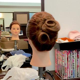 アップスタイル 結婚式 大人女子 ヘアアレンジ ヘアスタイルや髪型の写真・画像