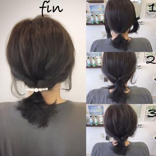 ナチュラル 女子会 簡単ヘアアレンジ デート ヘアスタイルや髪型の写真・画像 ヘアスタイルや髪型の写真・画像