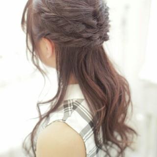 簡単ヘアアレンジ 黒髪 ヘアアレンジ 大人かわいい ヘアスタイルや髪型の写真・画像