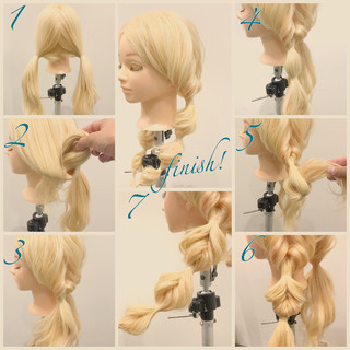 ショート 簡単ヘアアレンジ ロング ヘアアレンジ ヘアスタイルや髪型の写真・画像