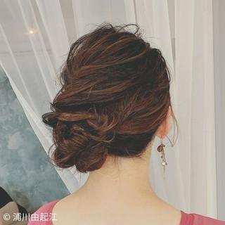 結婚式ヘアアレンジ 大人かわいい ヘアアレンジ ゆるふわ ヘアスタイルや髪型の写真・画像