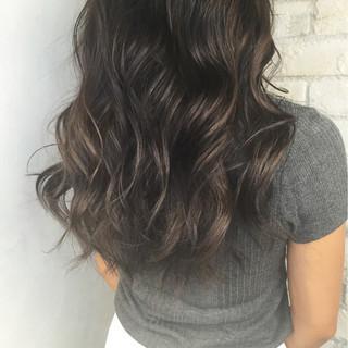 ストリート 暗髪 アッシュ ハイライト ヘアスタイルや髪型の写真・画像