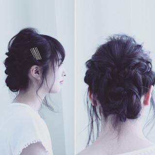 ねじり ヘアアクセ ルーズ ヘアピン ヘアスタイルや髪型の写真・画像 ヘアスタイルや髪型の写真・画像