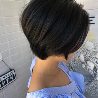 小顔 女子力 ショートボブ 似合わせ ヘアスタイルや髪型の写真・画像 ヘアスタイルや髪型の写真・画像