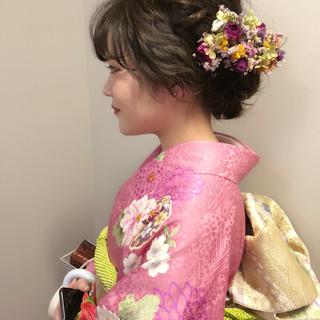 アップスタイル 振袖 結婚式 謝恩会 ヘアスタイルや髪型の写真・画像
