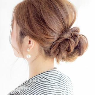 ナチュラル ロング ショート ヘアアレンジ ヘアスタイルや髪型の写真・画像