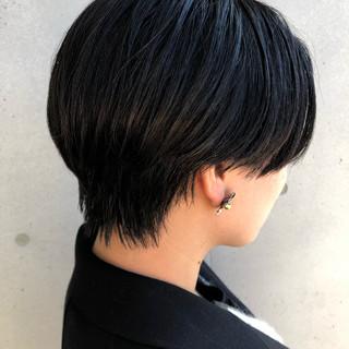 ベリーショート ショートヘア 切りっぱなしボブ ショート ヘアスタイルや髪型の写真・画像