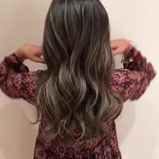 ヘアアレンジ ロング エレガント 外国人風カラー ヘアスタイルや髪型の写真・画像