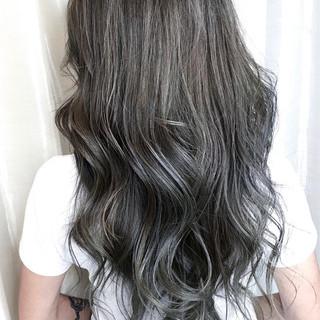 ブルーアッシュ ブルージュ ブルー ネイビー ヘアスタイルや髪型の写真・画像 ヘアスタイルや髪型の写真・画像