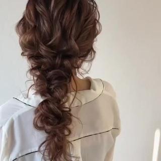 大人かわいい ヘアアレンジ ロング ゆるナチュラル ヘアスタイルや髪型の写真・画像