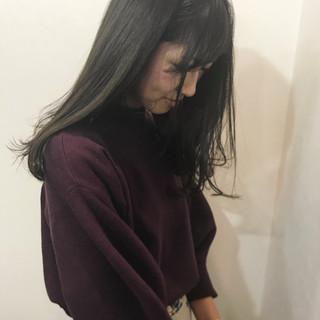 ヘアアレンジ ハイライト 黒髪 ナチュラル ヘアスタイルや髪型の写真・画像 ヘアスタイルや髪型の写真・画像