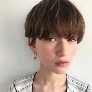 ブリーチカラー ナチュラル ショートボブ ショート ヘアスタイルや髪型の写真・画像