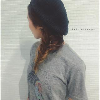 フィッシュボーン 編み込み ヘアアレンジ 簡単 ヘアスタイルや髪型の写真・画像