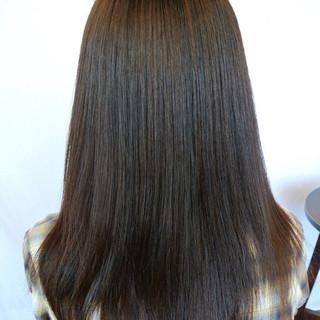 パーマ ロング ストレート ナチュラル ヘアスタイルや髪型の写真・画像 ヘアスタイルや髪型の写真・画像